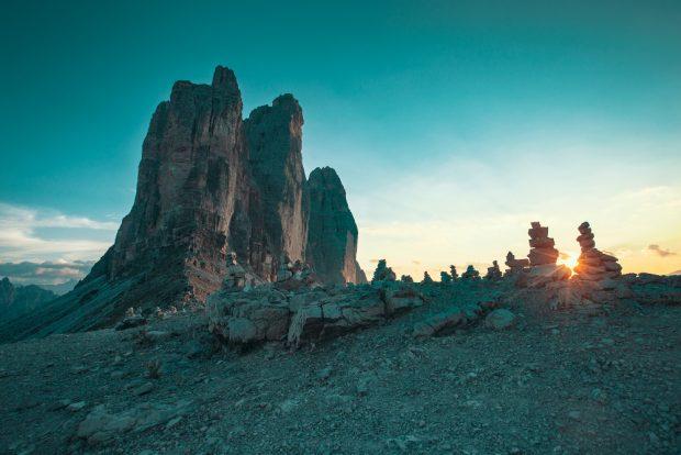 Tre Cime o zachodzie słońca (fot. Justyna Matuszek)