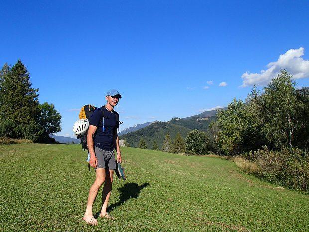 Koniec! - 8 dnia o godz. 16.45 Tadek zameldował się na Huciańskiej Przełęczy (fot. Róża Paszkowska)