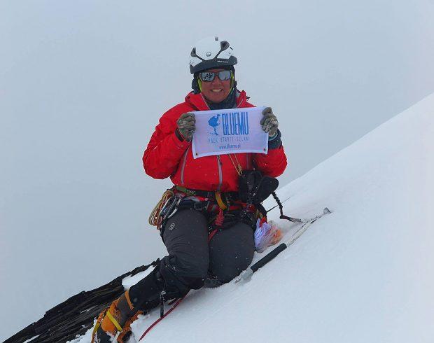 Na szczyt dotarliśmy tam całym zespołem między 13:30 a 13:40 9 sierpnia. Na zdjęciu Ola Dzik