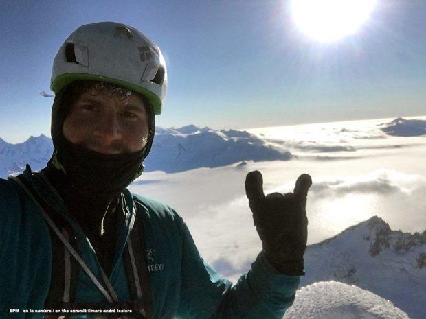 Na szczycie Torre Egger (fot. Marc-André Leclerc)