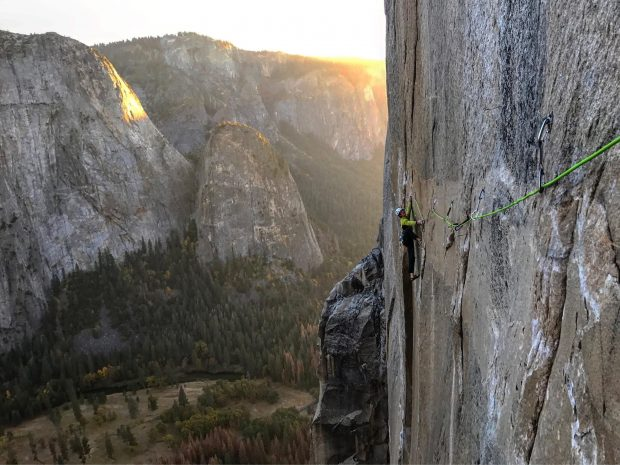 Adam Ondra na Dawn Wall (fot. Pavel Blažek)