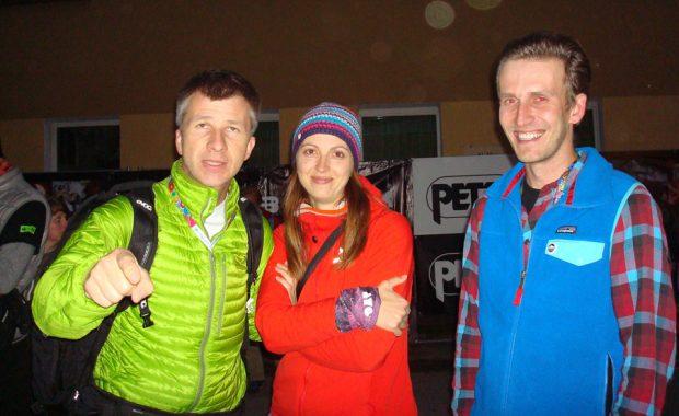 """Jan Wierzejski (z prawej), obok Wioletta Godek - Lyo Food i Piotr Drożdż - """"Góry"""" (fot. Beata Słama)"""