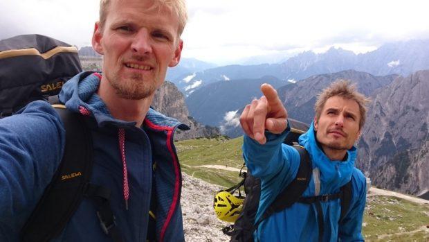 Jacekk Matusze i Łukasz Dudek (fot. Alpine Wall Tour)
