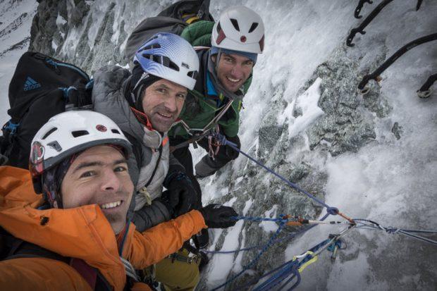 Dani Arnold, Alexander Huber i Thomas Senf
