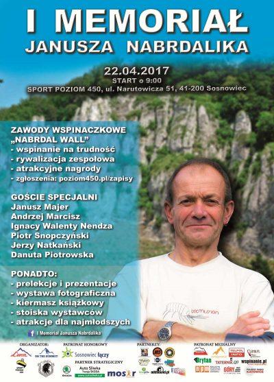I Memoriał Janusza Nabrdalika. Plakat