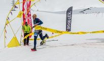 Karl Egloff na mecie Red Fox Elbrus Race