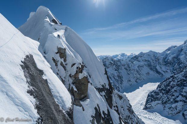 Jess Roskelley podczas drugiego dnia wspinaczki południową granią Mount Huntington