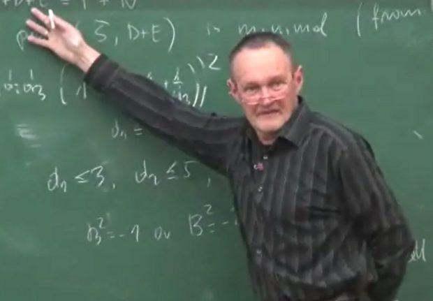 "Mariusz Koras, wykład w trakcie ""Workshop on Algebraic Surfaces"" w Seulu w marcu 2012 (VOD The MathNet Korea, vod.mathnet.or.kr)"