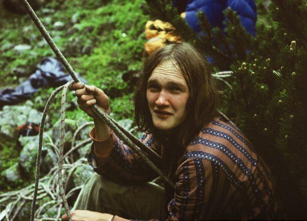 Mariusz Koras w skałkach ok. 1974 (lojanci.org / arch. J. Skrzyszowski)