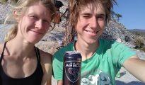 Karolina Ośka i Michał Czech na szczycie El Capitana po zrobieniu Freeridera