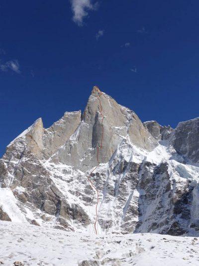 Przebieg nowej drogi na Cerro Kishtwar