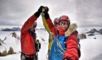 Leo Houlding, Jean Burgun i Mark Sedon na szczycie Spectre