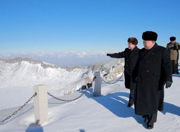 Kim Dzong Un na Mt Paektu