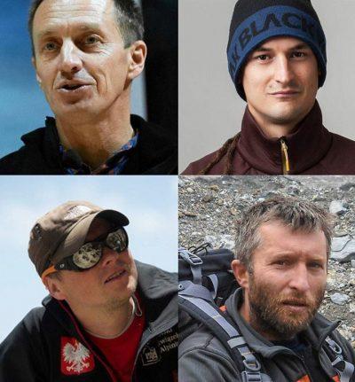 Ekipa ratunkowa na Nanga Parbat: Denis Urubko, Adam Bielecki, Jarosław Botor, Piotr Tomala