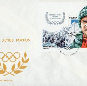 Znaczek Srebrny Medal Orderu Olimpijskiego, Jerzy Kukuczka, 1988