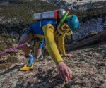 Rilyn VandeMerwe na East Face 5.4, Third Flatiron