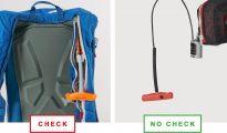 Wezwanie dotyczy plecaków z Airbag System 3.0, który ma rączkę wywalającą w kolorze 'neon' (po lewej)