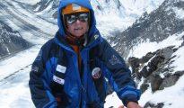 Anna Czerwińska na Żebrze Abruzzi na K2 podczas wyprawy w 2005 roku (fot. Darek Załuski)