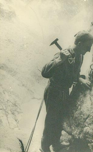 Jan Krupski podczas wspinaczki w Tatrach (fot. Archiwum Jana Krupskiego)