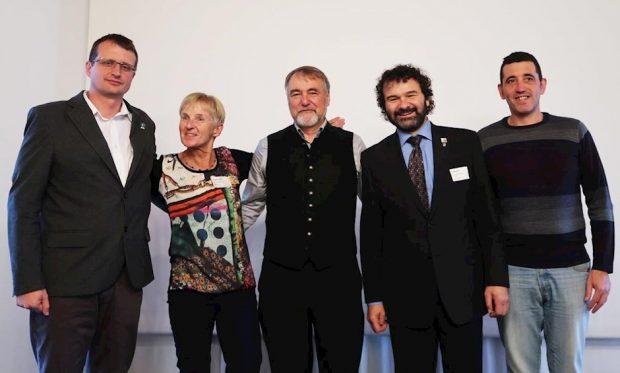 Pierwsze prezydium EUMA, od lewej Bojan Rotovnik, Ingrid Hayek, Roland Stierle, Jan Bloudek, Juan Jesús Ibanez Martín (fot. DAV)