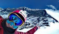 Miłka Raulin pod Mount Everest