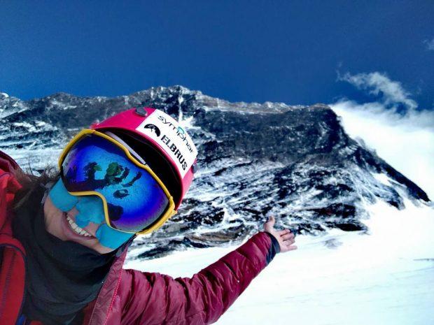Miłka Raulin pod Everestem (fot. arch. M. Raulin)