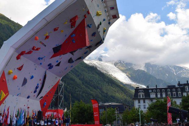 Efektowna ściana w Chamonix