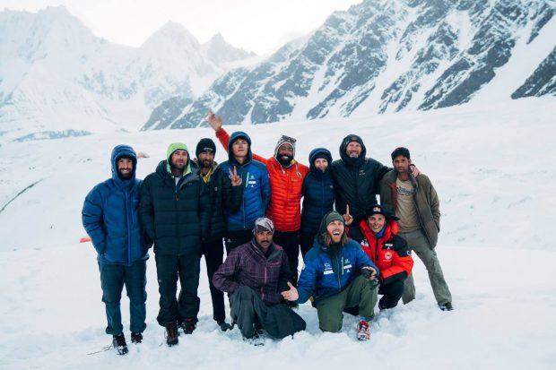 Ekipa Andrzeja Bargiela w bazie pod K2