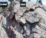 Porównanie modelu 3D i zdjęcia skały