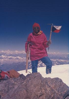 Ivan Fiala na szczycie Nanga Parbat, 1971