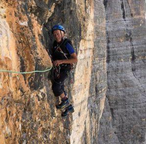Reiner Kauschke w ścianie Cima Grande di Lavaredo (fot. Christoph Hainz)