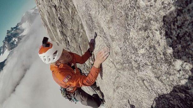 Robert Jasper podczas wspinaczki na Stonecircle (fot. Robert Jasper)