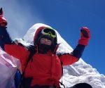 Aldona Drabik na szczycie Manaslu (fot. A. Drabik)