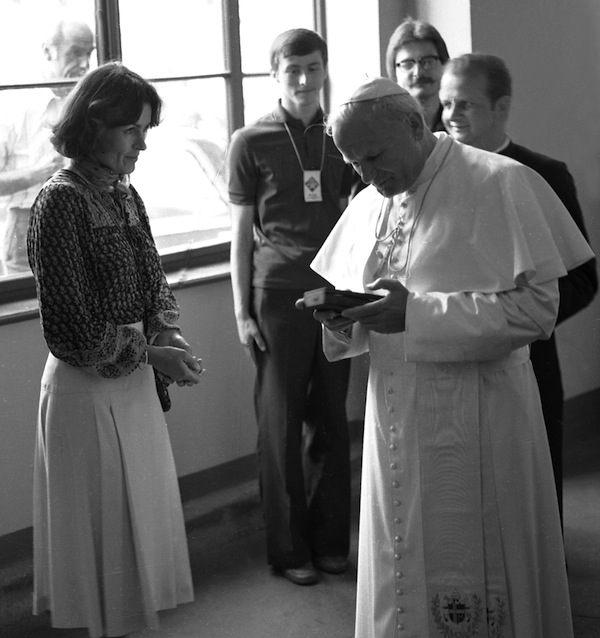 Wanda Rutkiewicz i Jan Paweł II