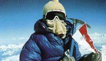 Wanda Rutkiewicz na szczycie Mount Everest, 16.10.1978