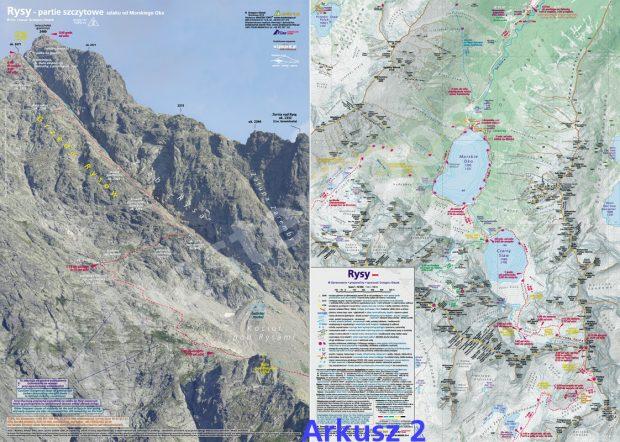 """""""Rysy. Zestaw topograficzny"""" - Arkusz 2"""