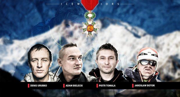 Legia Honorowa: Denis Urubko, Adam Bielecki, Piotr Tomala, Jarosław Botor