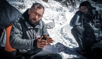 3 kwietnia, Dmitrij Gołowczenko i Siergiej Niłow po zakończeniu 19-dniowej epopei na Jannu (fot. Eliza Kubarska)