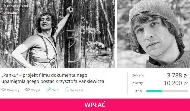 """Zbiórka na film """"Panku"""" jeszcze trwa. Zapraszamy na portal zrzutka.pl"""