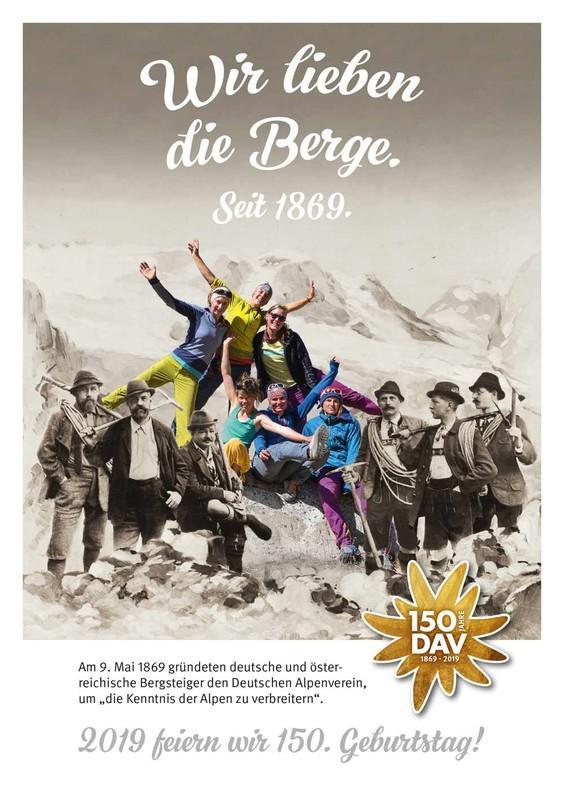 "Plakat promujący 150-lecie DAV - ""Kochamy góry"""