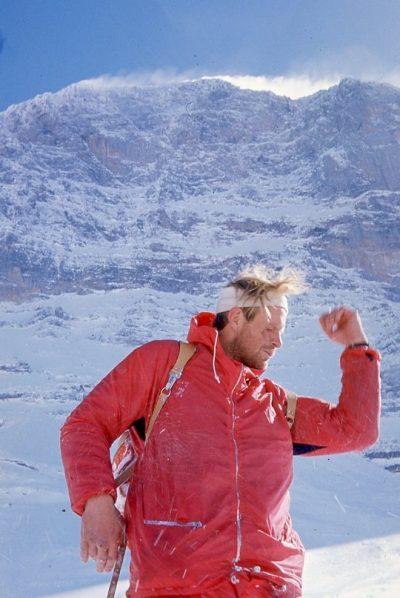 John Harlin Harlin po zjeździe z Biwaku Śmierci (© Peter Gillman)