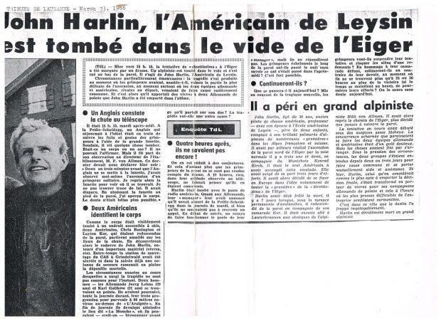 """Artykuł z """"Tribune de Lausanne"""", 23 marca 1966, (fot. archiwum Piotra Paćkowskiego)"""
