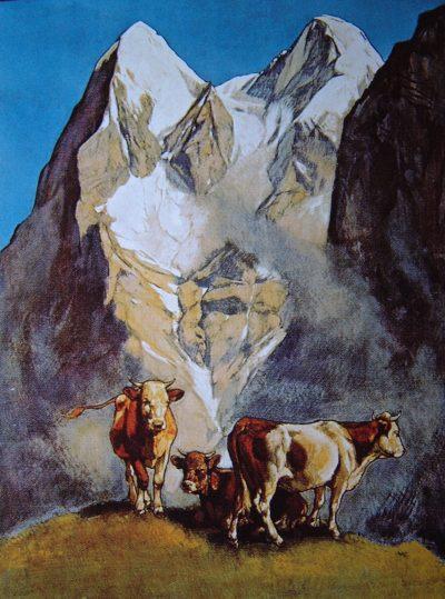Eiger, praca Ernsta Hodela z 1925 roku (fot. archiwum Piotra Paćkowskiego)