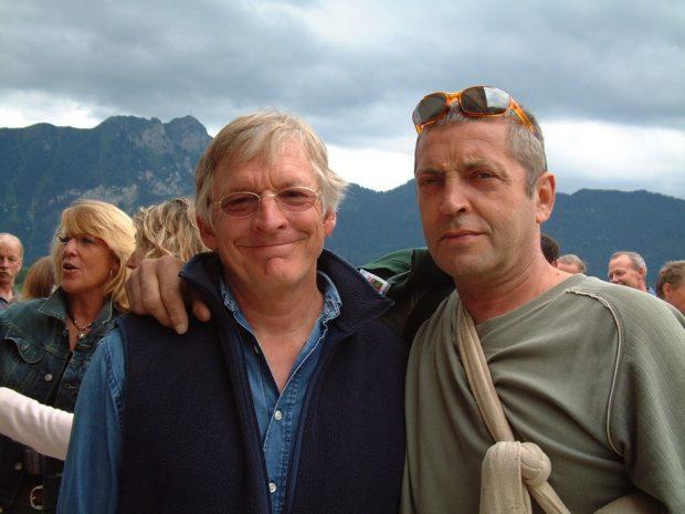 Larry Ware i Piotr Paćkowski w Leysin (© Piotr Paćkowski)