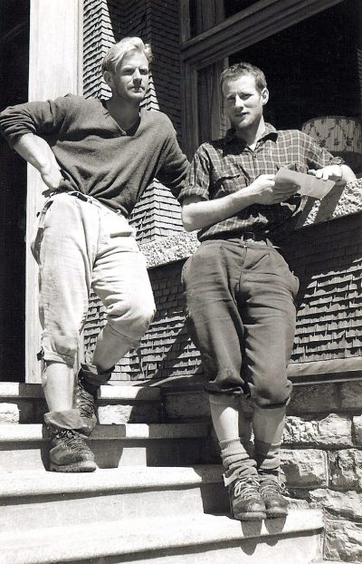 Harlin i Konrad Kirch po przejściu drogi klasycznej (© John Harlin III Collection)