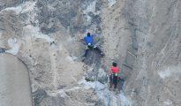 Brad Gobright (w czerwonej podkoszulce) i Alex Honnold na El Niño (fot. FB Tom Evans)