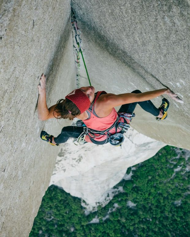 "Barbara Zangerl na ""Pre-Muir"", El Capitan, Yosemite (fot. FB Barbara Zangerl)"