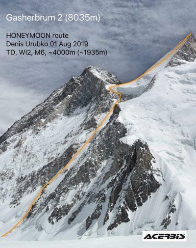 """Honey Moon"" na Gasherbrum II (fot. urubko-8000new.blogspot.com)"