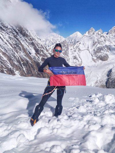 Magda Gorzkowska w bazie pod Manaslu przed atakiem na szczyt (fot. FB Magda Gorzkowska)