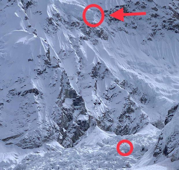 Serak nad Icefallem (fot. FB Tim Emmett)